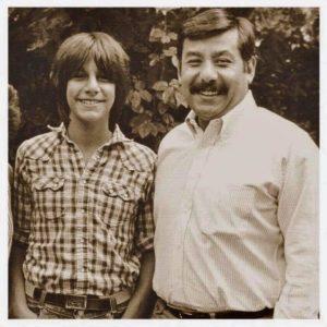 Phil with his father Joe Serna, Jr.