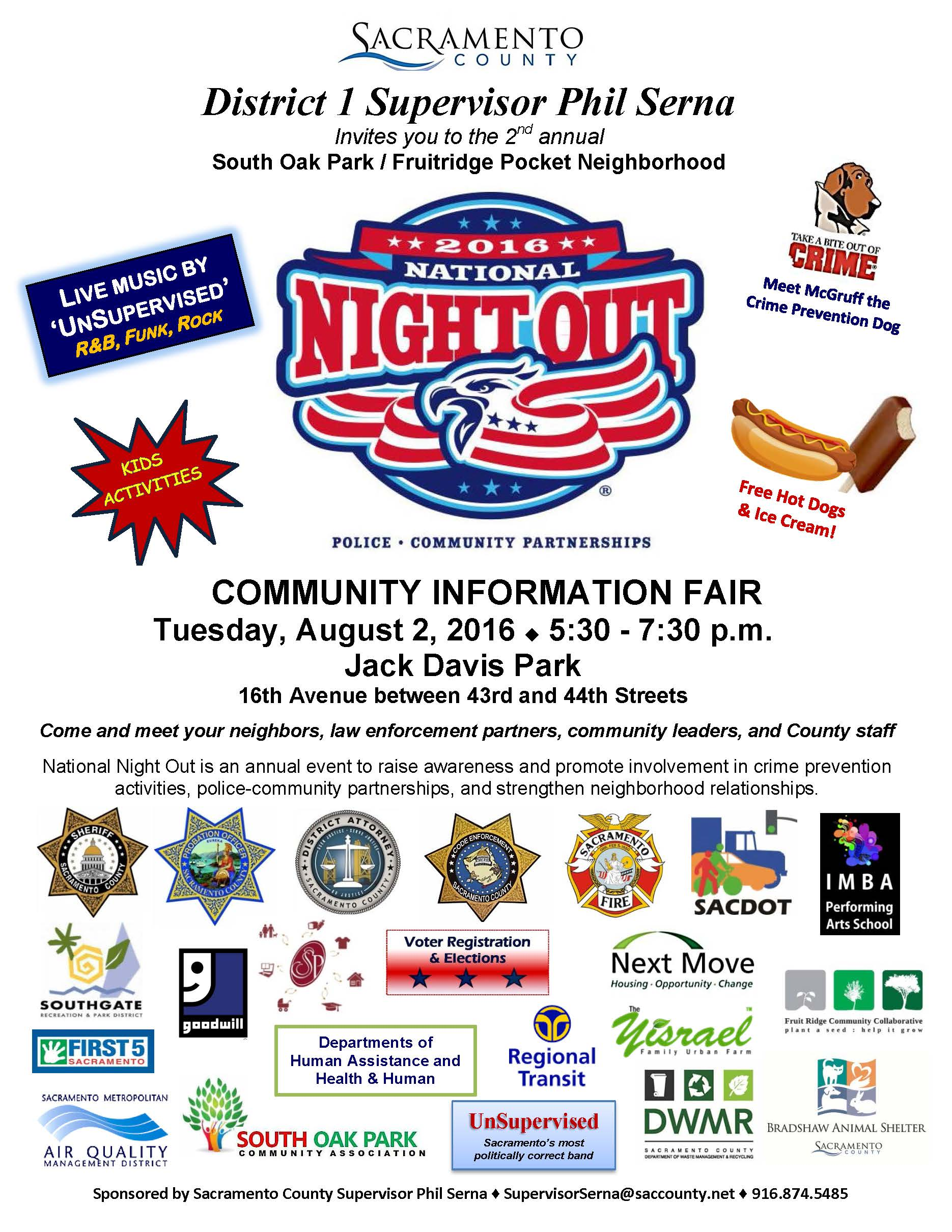 Music, Food and Crime Prevention at 2016 National Night Out