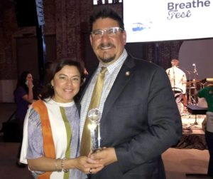 Photo of Phil with wife Roxanna at 2017 Breathe Fest