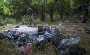 Trash left from illegal campers on ARP