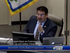 Supervisor Serna during July 11 2017 clean and safe parkway Board meeting