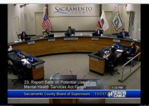 MHSA report back board of supervisors