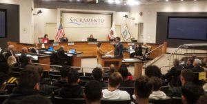 Board chambers - Supervisor Serna sworn in to third term