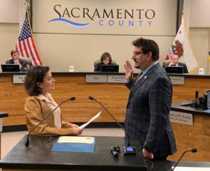 Phil Serna sworn in by wife Roxanna 1-15-19