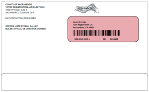 Sacramento County Vote by Mail Ballot